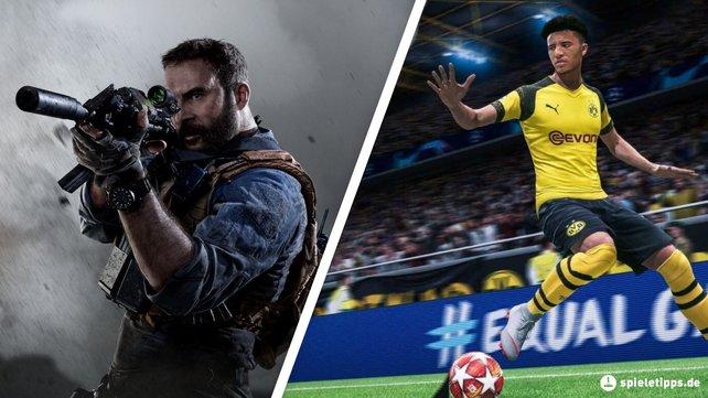Auf der PS4 könnt ihr in Spielen wie CoD: Modern Warfare und FIFA 20 Preise gewinnen.
