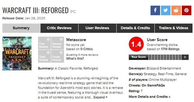 Das erste Urteil der Spieler fällt auf Metacritic vernichtend aus. Stand: 30. Januar 2020, 13.40 Uhr