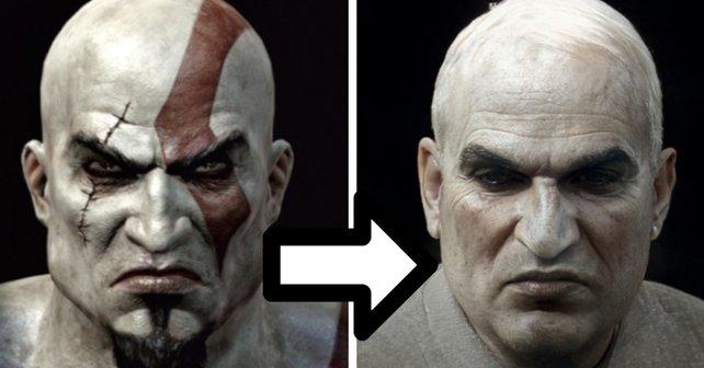 Kratos hat sich sehr verändert. (Bilquelle: Twitter / IGN)