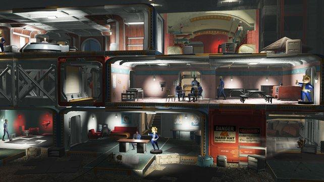 Lasst ihr die Wände auf einer Seite weg, habt ihr im Handumdrehen eine eigene Variante von Fallout Shelter.