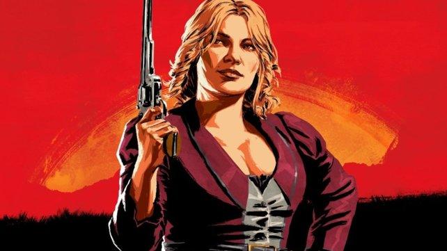 Eine unwissende Heldin in Red Dead Online ahnt nicht, dass andere Spieler unter ihrer Flagge reiten. Bildquelle: Rocktar Games.