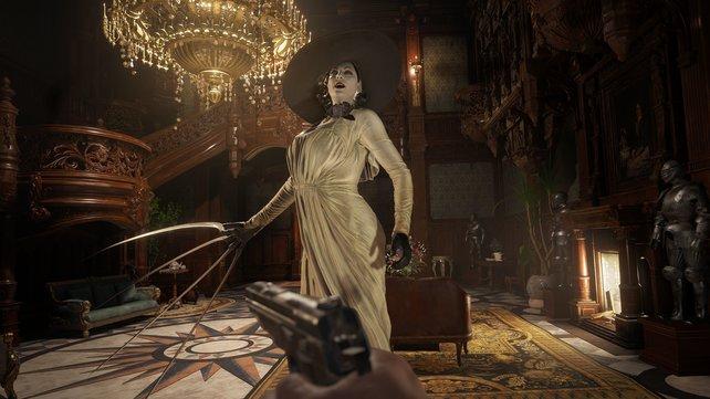 Resident Evil Village: Die Vampirlady Dimitrescu ist nicht die einzige Feindin, die Ethan Winters zerstückeln will. Aber eine der schlimmsten.
