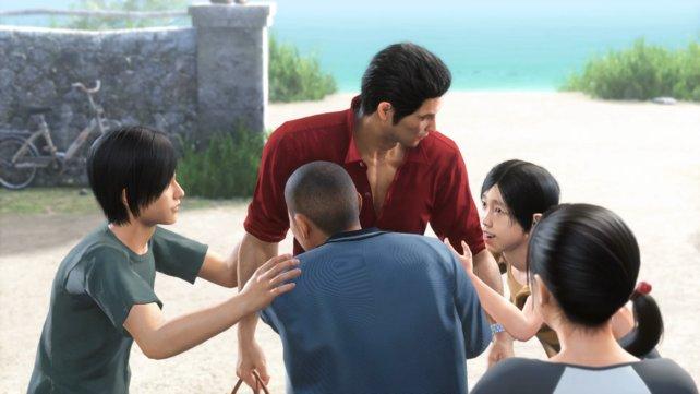 Die Kinder freuen sich über das Wiedersehen. Auf Kazuma wartet eine böse Überraschung.