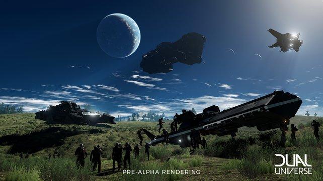 Die aktiven Spieler zeigen schon jetzt, was in Dual Universe alles möglich ist.