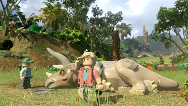 Bevor ihr in die Haut eines Triceratops schlüpfen könnt, sollt ihr ihn heilen.