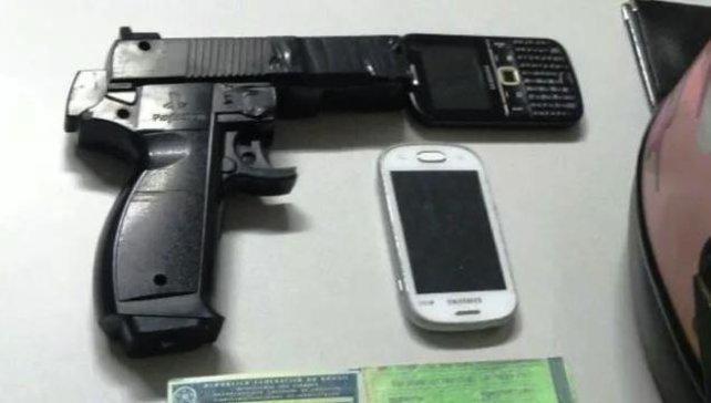 Dies ist die Guncon-Pistole, die zwei Männer für ihre Untaten gebrauchten.