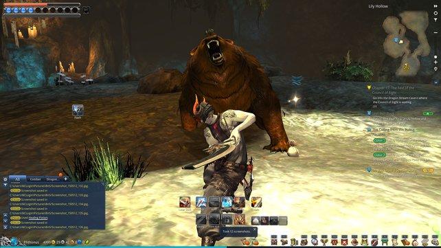 Um den Bären zu verdreschen, braucht ihr die volle Aufmerksamkeit.