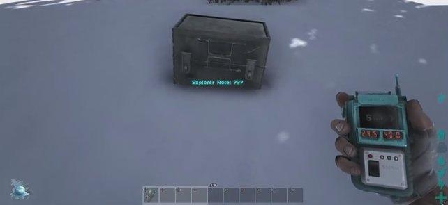 In diesen kleinen Kästchen verstecken sich die wertvollen Entdeckernotizen in Ark - Survival Evolved.