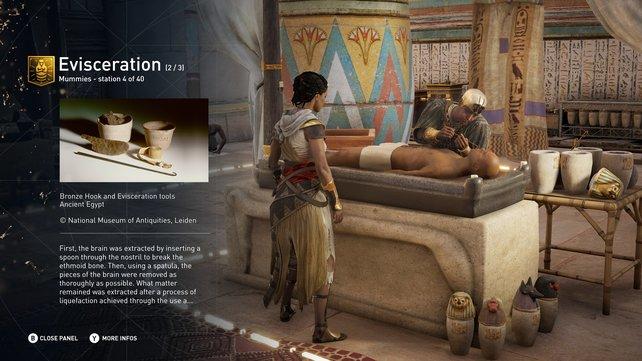 Der kostenlose Erkundungstouren-DLC soll Anfang 2018 erscheinen. Er ermöglicht es euch beispielsweise bei einer Mumifizierung dabei zu sein.