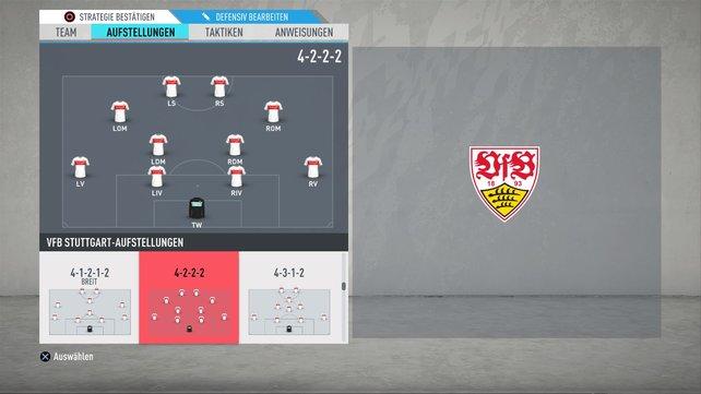 Offensiv sehr stark: das 4-2-2-2 in FIFA 20.