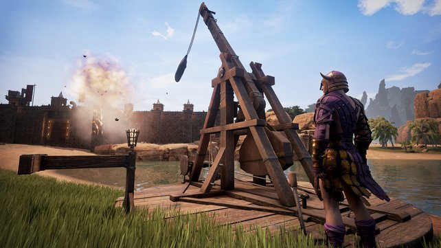 Im Wettkampf mit anderen Spielern müsst ihr immer darauf gefasst sein, dass eure mühsam erschaffenen Bauwerke möglicherweise nicht Bestand haben.