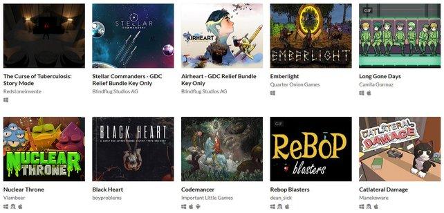 Das GDC Relief Bundle enthält mehr als 150 Spiele