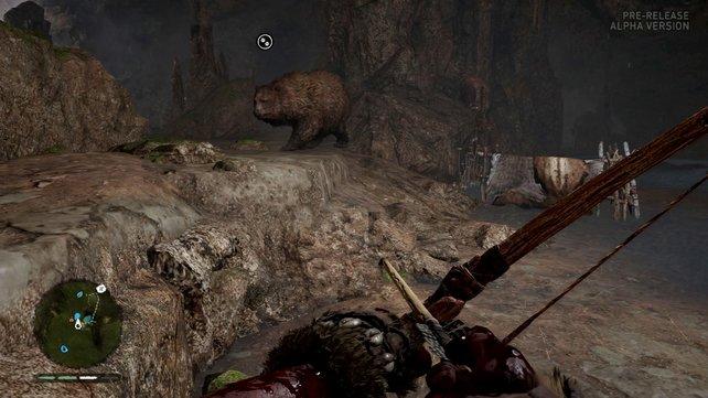Ihr könnt Bären, Raubkatzen oder Wölfe mit auf die Jagd mitnehmen.