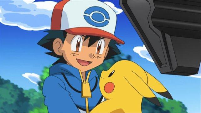 Ash Ketchum und Pikachu. Ratet mal, wie Ash im japanischen Original heißt!