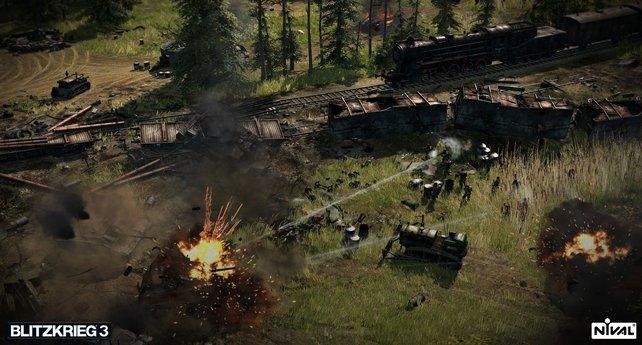 Ob der Zug da unbeschadet durchkommt?