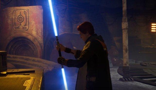 Das Doppelklingen-Lichtschwert eignet sich für den Kampf gegen mehrere Gegner.