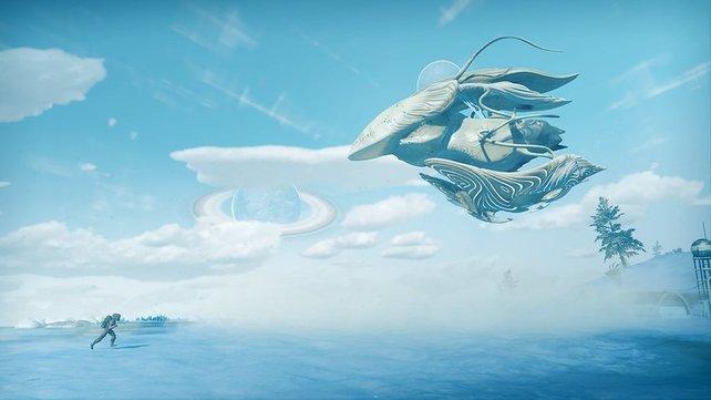 Die organischen Schiffe in No Man's Sky - Befremdlich, bedrohlich aber auch wunderschön.