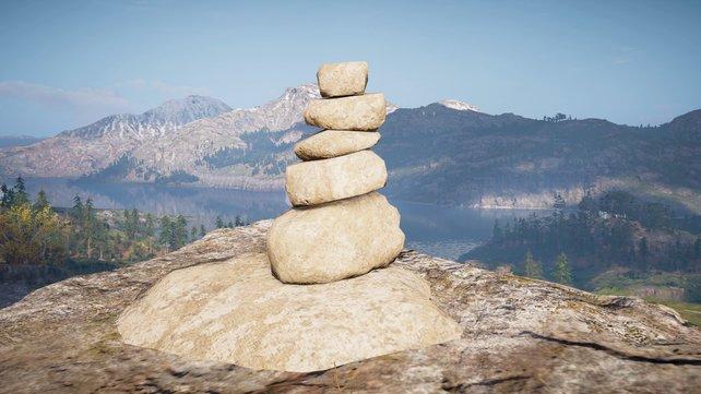 Sind die Steinmännchen-Rätsel erst einmal geschafft, strahlen sie eine angenehme Ruhe aus.