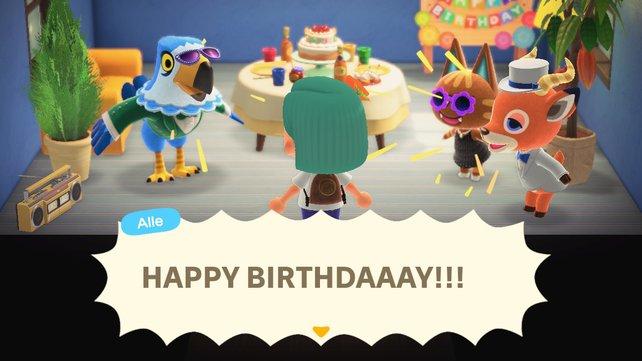 Auch in Animal Crossing: New Horizons sind Geburtstage ein erfreuliches Ereignis.