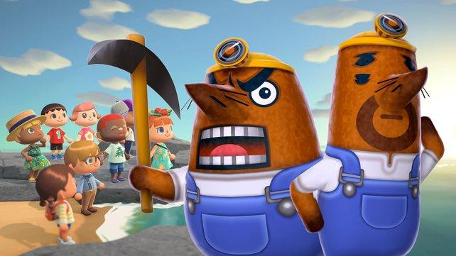 Spieler gründen ein eigenes Unternehmen in Animal Crossing: New Horizons.