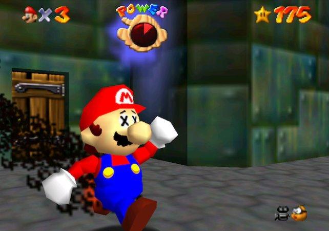 Auch nach fast 24 Jahren, hat niemand den Bug an Marios Hosenboden bemerkt.