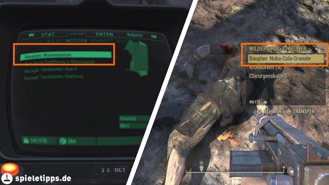 Vergesst nicht, dass ihr die Baupläne bei Fallout 76 lesen müsst, damit ihr sie auch verwenden könnt. Manche der Anleitungen findet ihr auch bei Gegnern, also scheut euch nicht davor, alle besiegten Körper zu looten.