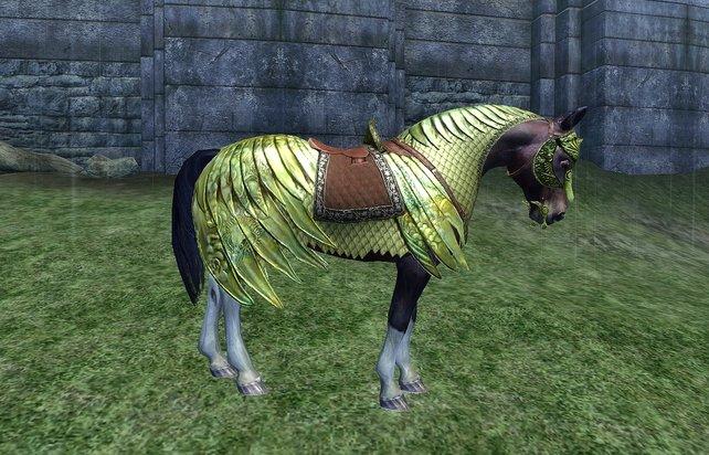 Riecht nach Pixel und kann nichts: Die Pferderüstung war zumindest ein guter Meme-Lieferant.