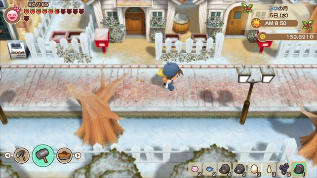 Egal ob Sonnenschein oder Schnee - in Story of Seasons: Friends of Mineral Town gibt es immer etwas zu tun.