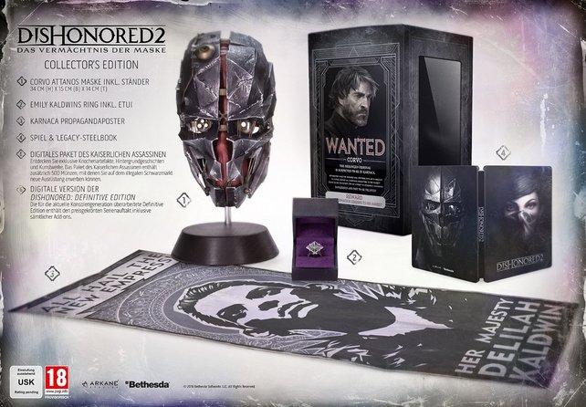 Collector's Edition von Dishonored 2: Das sind die Inhalte der tollen Box.