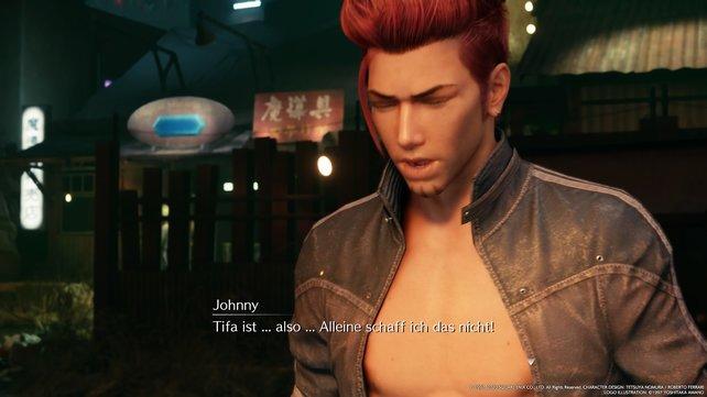 Johnny sorgt sich um Tifa und will ihr helfen, wofür er aber natürlich Cloud braucht.