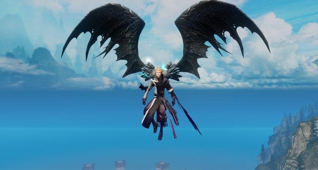 So sehen die Drachenflügel in Aktion aus.