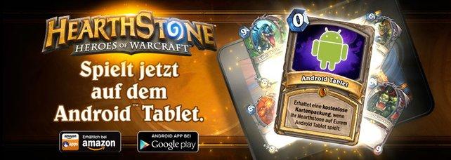 Spielt Hearthstone auf dem Android und holt euch eine kostenlose Kartenpackung.