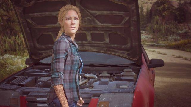 In Zwischensequenzen und Rückblenden wird in Days Gone die Geschichte erzählt. Hier seht ihr Deacons Frau Sarah.