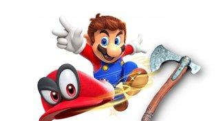 Halloween-Kostüm haut Mario eine Axt in den Kopf