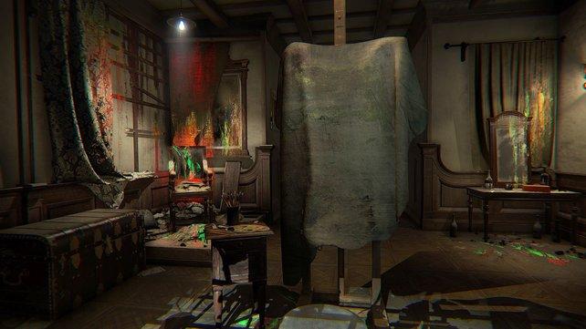 Layers of Fear: Hinter diesem Gemälde könnte sich alles verbergen.