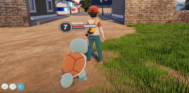 Euer Pokémon befindet sich nicht im Pokéball, sondern steht euch zur Seite