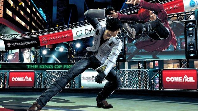 Die Kämpfe von Kyo gegen Iori (rechts) haben auch schon mal beeindruckender gewirkt.