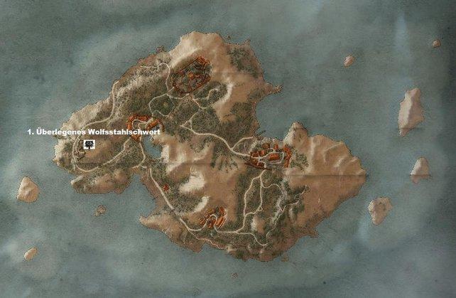 Wolfsschulenausrüstung auf der östlichsten Insel von Skellige