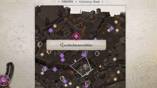 In Drezen befindet sich der Geschichtenerzähler vor den Festungsmauern zur Zitadelle.