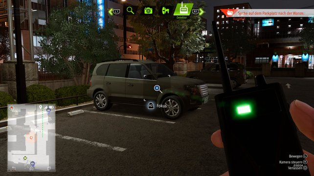 Diesen Van müsst ihr mit eurem Detektor aufspüren, um die Wanze zu finden.
