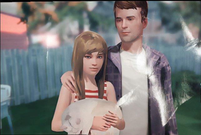 Chloe und ihr Vater, kurz vor seinem Tod.