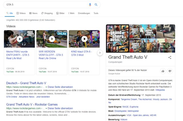 Googelt ihr GTA 5, passiert gerade etwas Merkwürdiges.