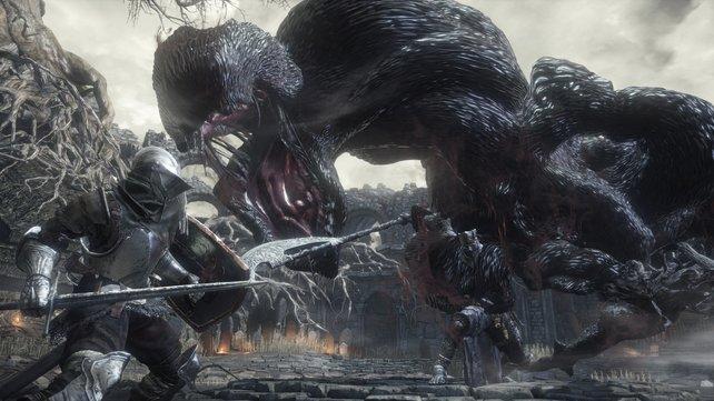 Bei solchen Gegnern ist es kein Wunder, dass Spieler von Dark Souls 3 recht häufig das Zeitliche segnen.