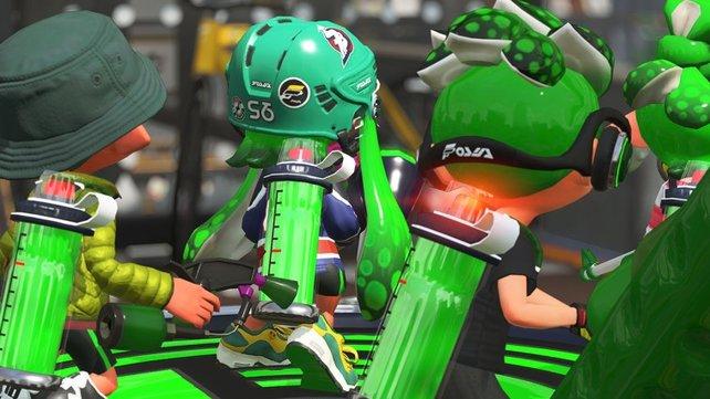 St. Patrick's Day? Nein, das grüne Team bereitet sich auf den Einsatz vor.