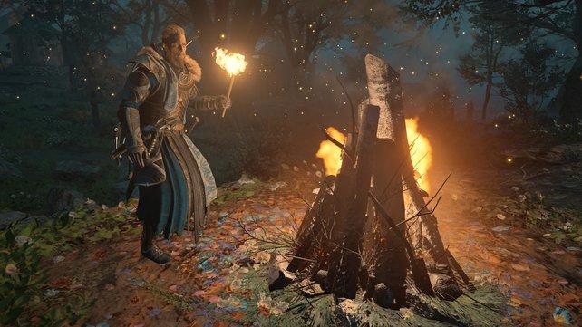 Entzündet Feuerstellen, um böse Geister zu vertreiben.