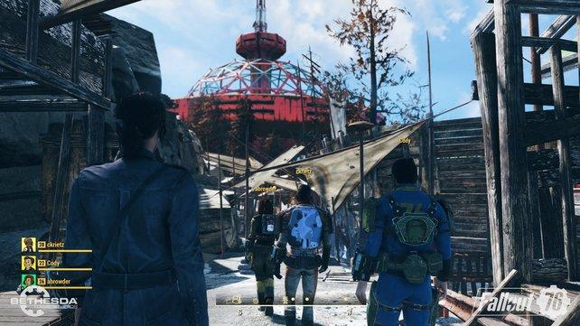 """Kommendes Update: Bald könnt ihr euch in """"Wastelanders"""" auch mit NPCs anfreunden."""