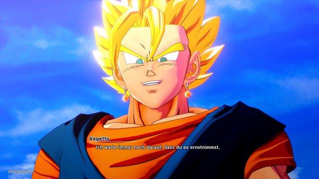 Ein legendärer Super Saiyajin: Vegetto hat keine Probleme mit Super-Boo.