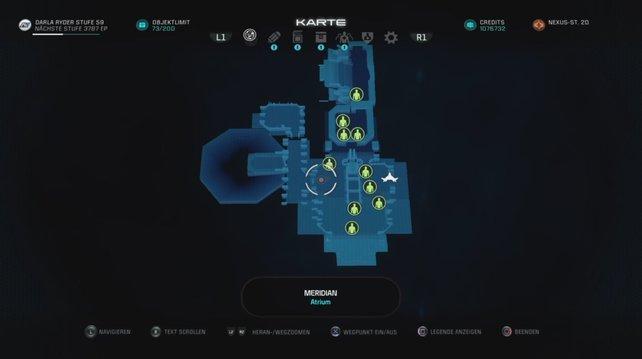 Die Map zeigt euch, wo sich die 10 Personen befinden, mit denen ihr im Epilog sprechen sollt.