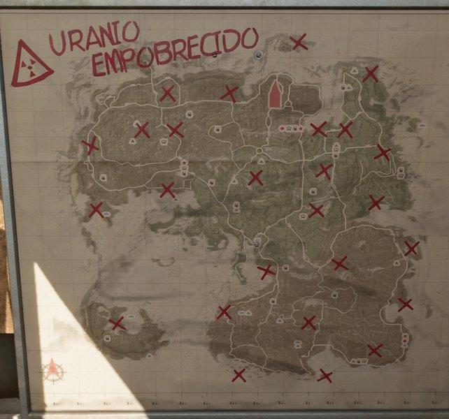 Auf dieser Karte seht ihr die ungefähre Position aller Flugabwehranlagen.