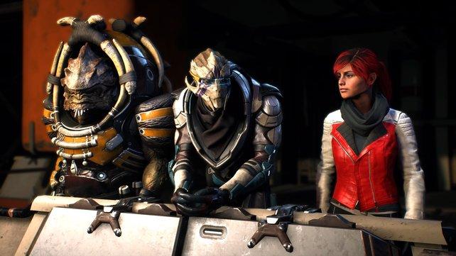 Auch eure Verbündeten erreichen Stufenaufstiege und sammeln XP in Mass Effect - Andromeda.